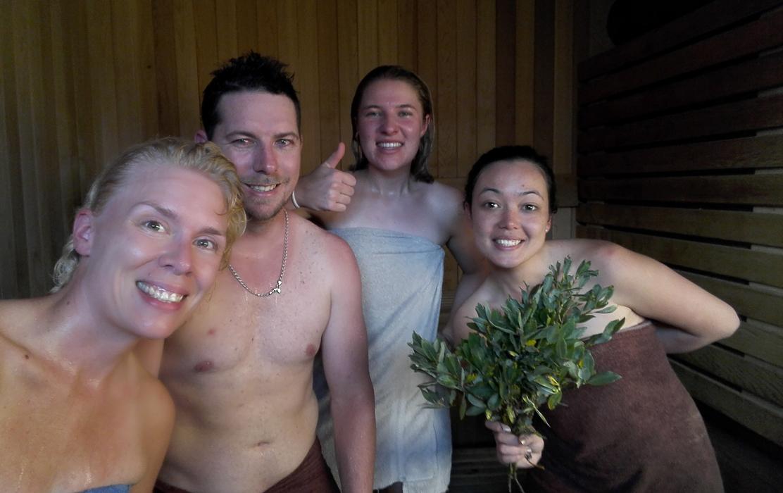 Lake Magog sauna