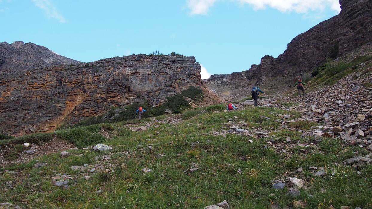 Wenkchemna Pass Wastach Peak rinne