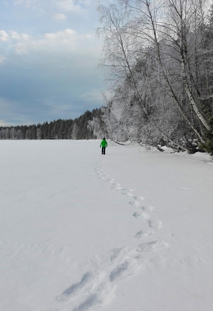 Lumikenkäretki Kolille, Pieksämäellä Iso-Naakkima