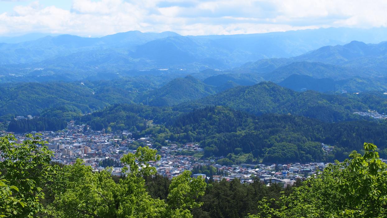 Hida-Takayama näkymä