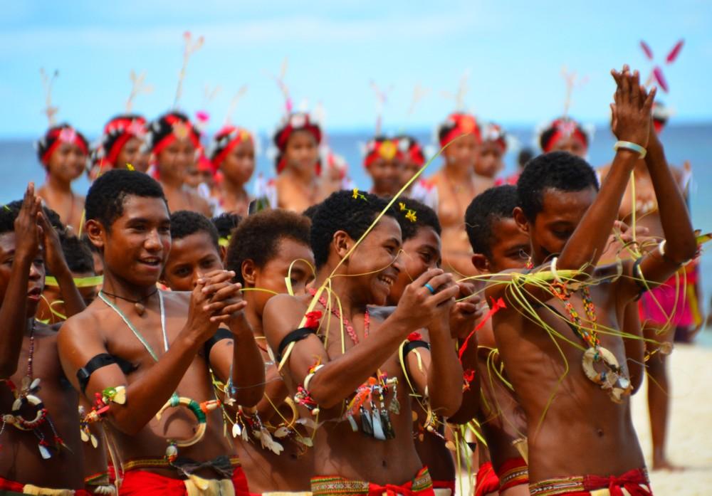 Tyynenmeren saaret. Kitava, Trobriand-saaret, Papua-Uusi-Guinea.