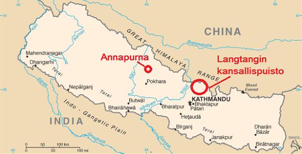 Nepalin kartta