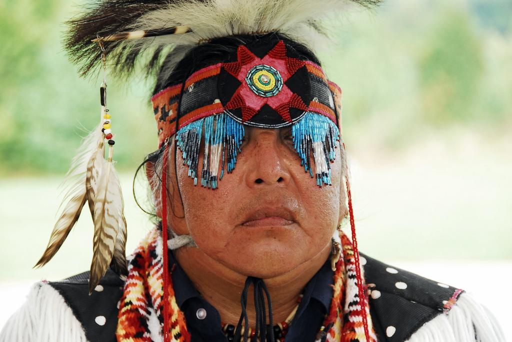 Pohjois-Amerikan alkuperäiskansat: Cherokee-intiaani.