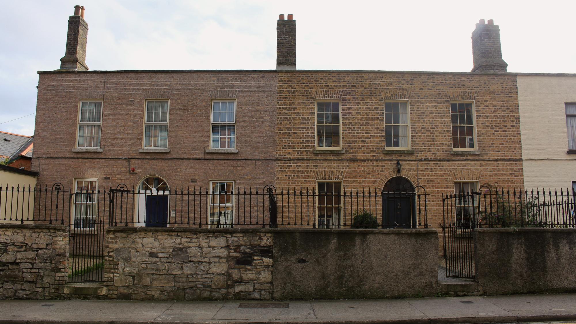 Dublinin pohjoista arkkitehtuuria.