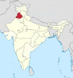 Sikhiläisyys. Punjab Intian kartalla.