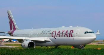 Qatar Airways Airbus A330 Manchesterin kentällä. Kuva: Flickr/54north.
