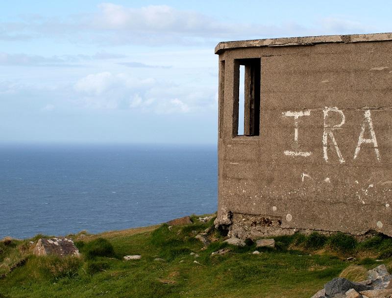 IRA-graffiti Ulsterin rannikkoalueella.