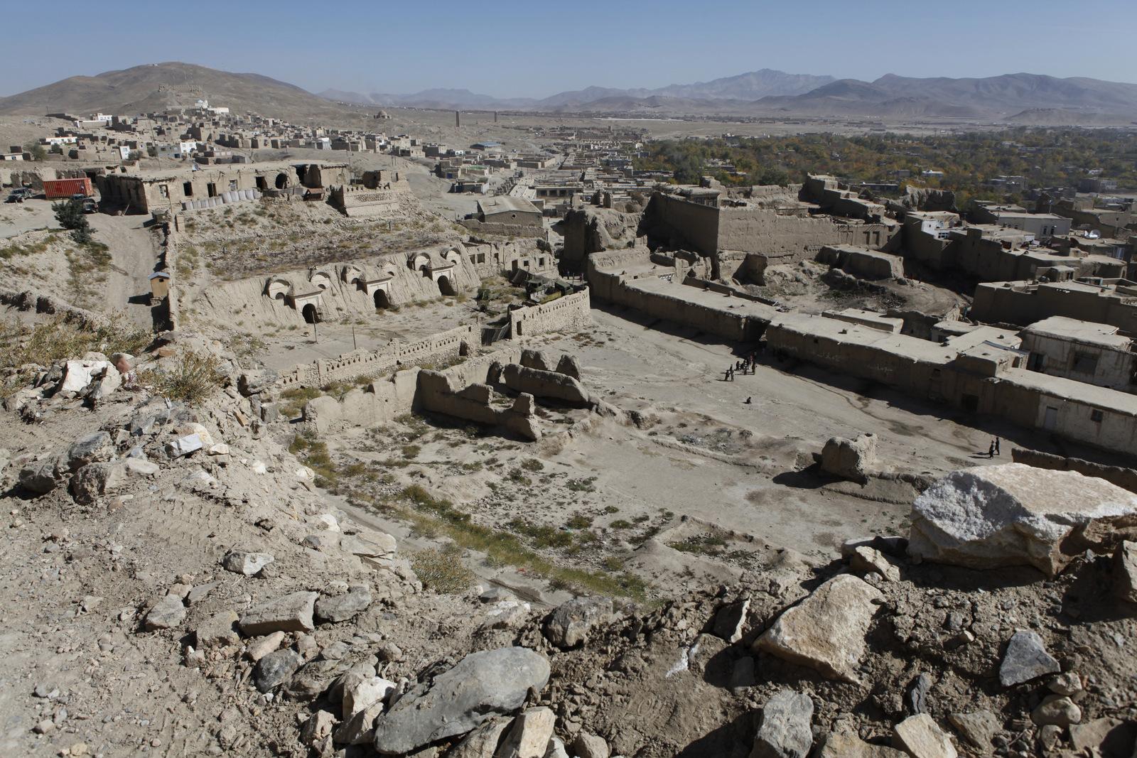 Yleiskuvaa Ghaznin historiallisesta keskustasta.