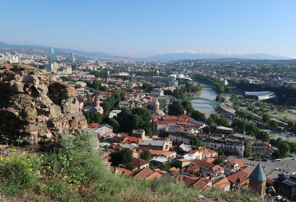 Georgian pääkaupunki Tbilisi.